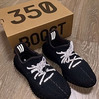 Adidas Yeezy 350 V2 Boots Static Popular Women Men Comfortable Sport Running Shoes Sneakers Black