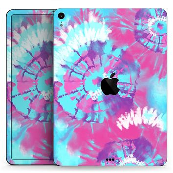 """Spiral Tie Dye V5 - Full Body Skin Decal for the Apple iPad Pro 12.9"""", 11"""", 10.5"""", 9.7"""", Air or Mini (All Models Available)"""