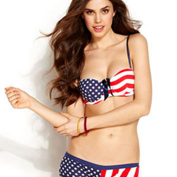 JT Intimates Bra and Panty, American Flag Bra and Boyshort - Lingerie - Women - Macy's