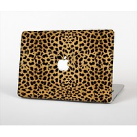 The Orange Cheetah Fur Pattern Skin Set for the Apple MacBook Pro 15""