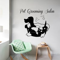Pets Wall Decals Pet Grooming Salon Interior Design Dog Puppy Pet Shop Animals Home Vinyl Decal Sticker Kids Nursery Baby Room Decor kk770