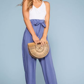 Brunch Ready Jumpsuit - Periwinkle