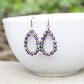'Healing' Amethyst Aromatherapy Earrings