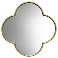Quatrefoil Decorative Wall Mirror Gold Finish - Threshold™ : Target