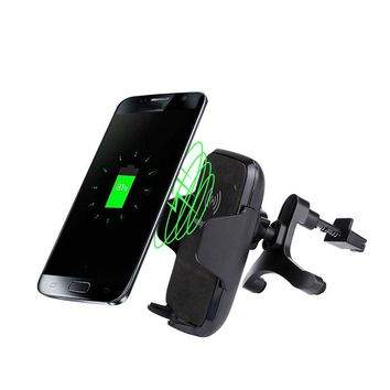 Car Mount Wireless Charger Vehicle Dock Charging Stand Dock for Samsung Galaxy S8 / S8 Plus Qi Mobile Cell Phone Smartphone