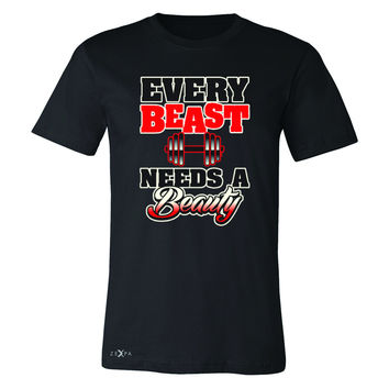 Every Beast Needs A Beauty Valentines Day Men's T-shirt Couple Tee