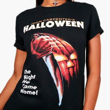 Halloween Licensed Oversized Tee | Boohoo