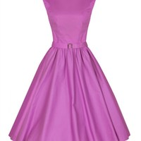 Lindy Bop 50s Audrey Hepburn Style Dress In Orchid   Tiger Milly