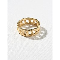 Vanessa Mooney x Gold Chain Link Ring