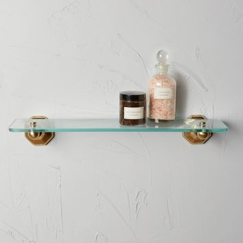 Brass Circlet Glass Shelf