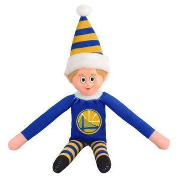 Golden State Warriors Holiday Christmas Team Elf with Santa Hat n Shirt NBA