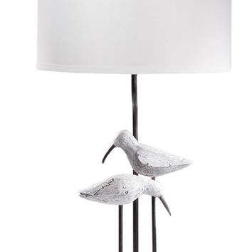 Seagull Coastal Table Lamp Washed Coastal Look White