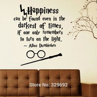 Harry Potter Happiness Can Be Found Even Hogwarts Wall Art Sticker Decal Home DIY Decoration Wall Mural Removable Decor Stickers