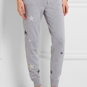 Chinti and Parker - Star-intarsia cashmere track pants