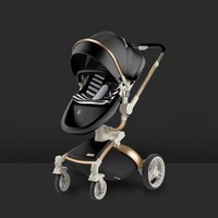 Luxury Leather Baby Stroller 2 in 1 Baby Carriage Pram