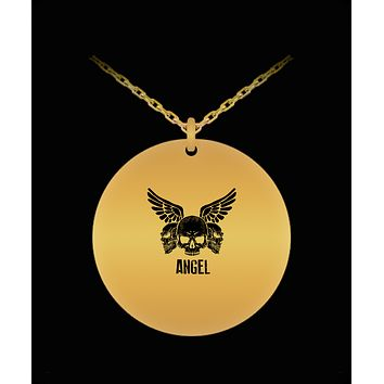 Skull Head Angel Wings Cool 18K Gold Plated Chain