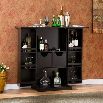 Harper Blvd Trinity Black Fold Away Bar | Overstock.com Shopping - The Best Deals on Bars