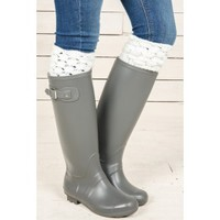 Come Rain or Shine Boots-Grey