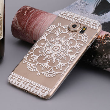 Henna Full Mandala Floral Dream Catcher Case Cover for Samsung Galaxy S6