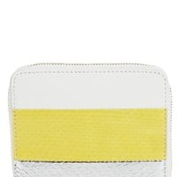 Diane von Furstenberg Small Leather & Genuine Snakeskin Zip Wallet | Nordstrom