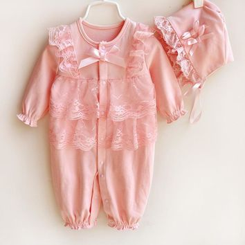 Spring Autumn Newborn Baby Clothes infant Baby Rompers Costume New Born Clothes Girls Boys Clothing Sleeping Bag jumpsuit  C0008