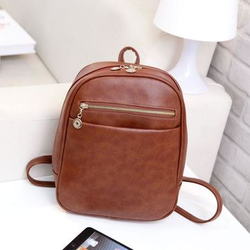 Miyahouse Preppy Style Leather Backpack Women Shopping Purse Clutch Korea Student Backpacks For Teenage Girls Mochila Escolar