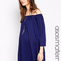 ASOS Maternity Off Shoulder Swing Dress