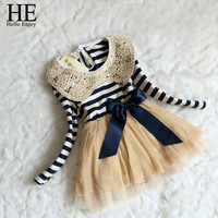 2015 Fall Autumn Winter Girls Chiffon stripe Dress Sequins Collar Baby Girl Dress Christma Kids Girl Dresses Stripe Tutu Dress Alternative Measures - Brides & Bridesmaids - Wedding, Bridal, Prom, Formal Gown