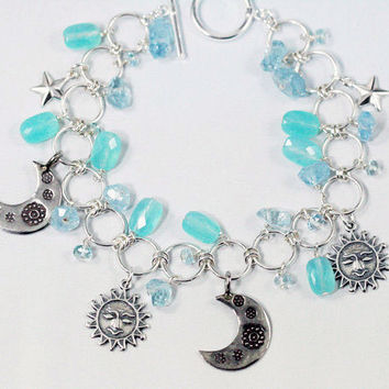 Sun and Moon Gemstone Bracelet