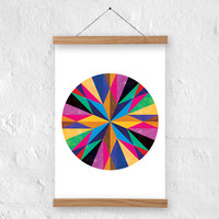 Decorative art print - A4 size - 100% recycled paper/ eco friendly home decor