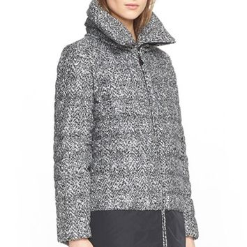 Women's Moncler 'Dauphin' Water Resistant Tweed Down Puffer Coat,