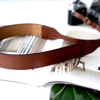 THE CLASSIC BRANDY  | Leather Camera Straps, Brown Leather Camera Strap, High Quality Leather Camera Strap,  Neck Strap, Camera Straps