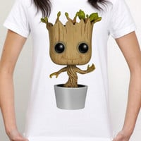 i am groot guardian of the galaxy women tshirt size for S --------- 4XL