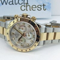 Rolex Daytona Mother of Pearl Diamond 116523 Rehaut WATCH CHEST