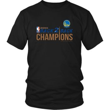 Golden State Warriors Unisex Shirt 2018 NBA Back 2 Back Champions (14 Colors)