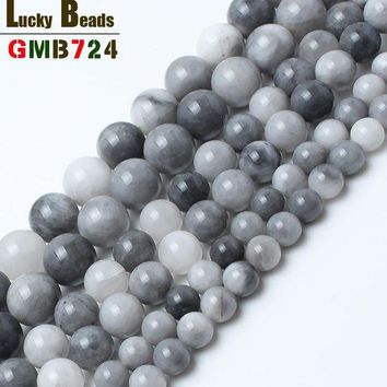 ac spbest natural round hawks eye stone beads for jewelry making 15inches/strand 6/8/10 mm loose beads for women making bracelet