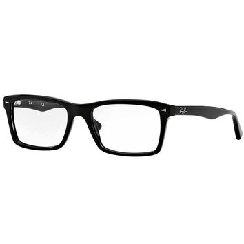 Ray-Ban Glasses 5287 2000 Black 5287 Rectangle Sunglasses Size:52 mm|Color:Black