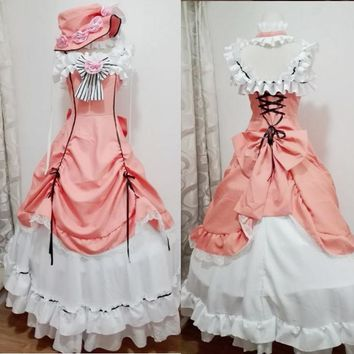 Ciel Phantomhive Cosplay Costume Anime Manga Kuroshitsuji Fancy Lolita Dress Women Black Butler Ciel Phantomhive Maid Costume