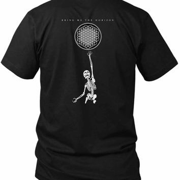 Bmth Bring Me To The Horizon Skeleton 2 Sided Black Mens T Shirt