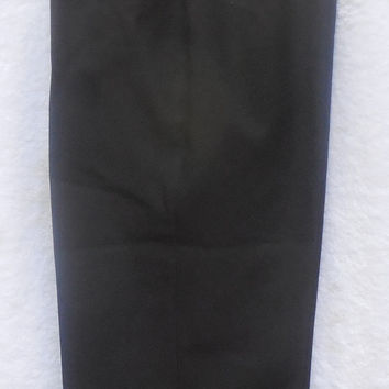 Vintage 80s Womens Pants Briggs New York 1980 Black Polyester Size 12