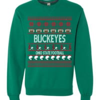 "Buckeyes Football ""Ugly Christmas Sweater"" Long-sleeve Sweatshirt"