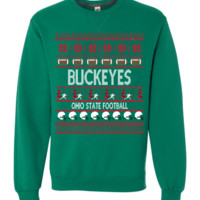 "Ohio State Buckeyes Football ""Ugly Christmas Sweater"" Long-sleeve Sweatshirt"