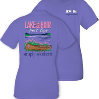 Simply Southern Lake Hair Tee - Periwinkle