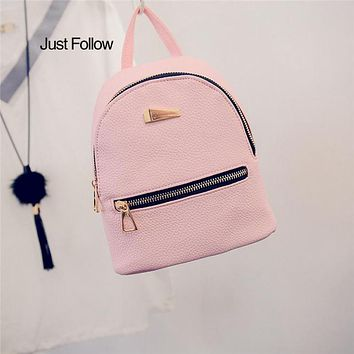 Travel For School Bags Teenage Girl Rucksack New 2017 Women's Backpacks Black Leather Backpack