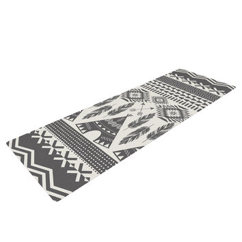 "Amanda Lane ""Native Roots"" Brown Gray Yoga Mat"