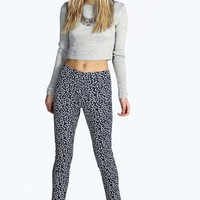 Briana Brushed Cotton Printed Trousers