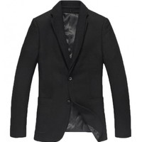 The Blake Wool Blazer Black - leatherandcotton