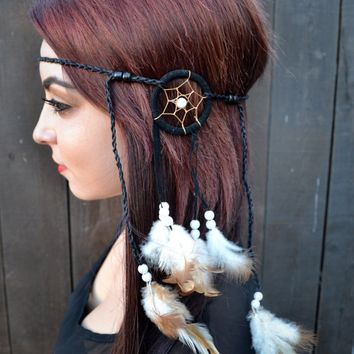 Black Dreamcatcher Headband #A1005