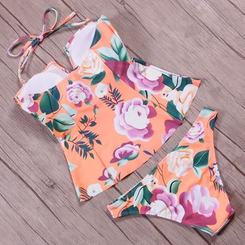 New Floral Printed Women Swimwear Bathing Suit