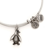 Alex and Ani Penguin Zoos And Aquariums Expandable Wire Bangle Russian Silver